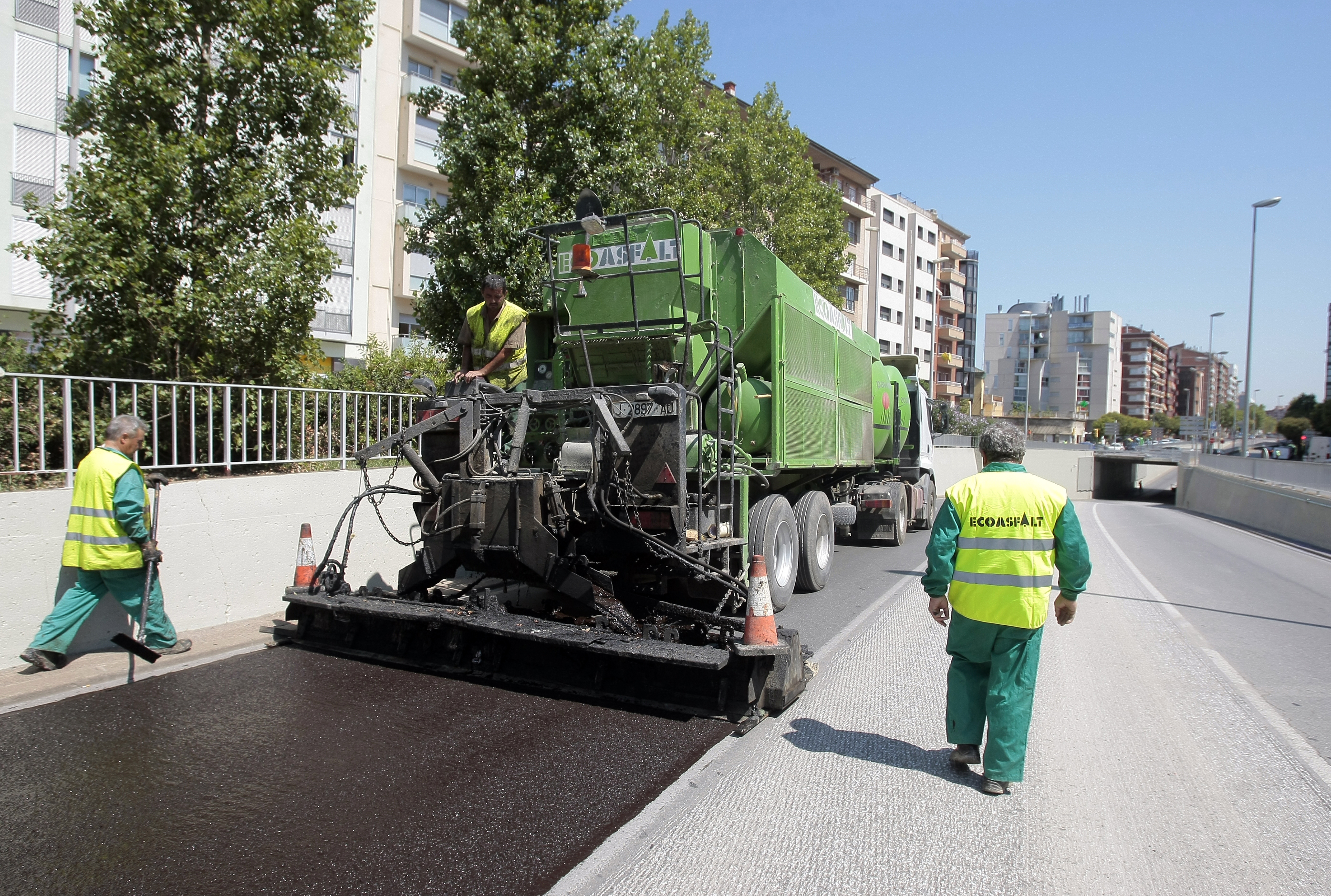 Asfaltado de calles en Madrid
